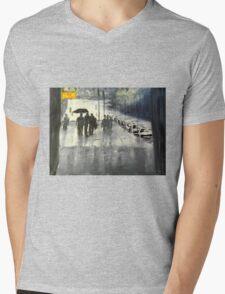 Rainy City Street Mens V-Neck T-Shirt