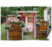 Hanging plant pot holders at the RHS Chelsea Flower Show Poster