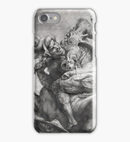 Peter Paul Rubens - The Battle Of Anghiari After Leonardo Da Vinci (1452-1519). The Battle:  fall,  thunder , death,  armour , attack, assault, horses, soldier , warrior, dramatic, fight iPhone Case/Skin