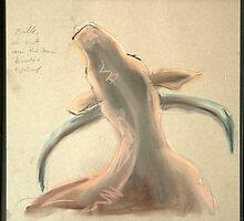 Bulle, der sich den Rücken kratzt by Bettina Kusel