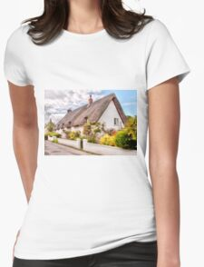 Thatched Cottage Avebury Womens Fitted T-Shirt