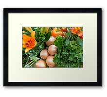 Onions at RHS Chelsea Flower Show Framed Print