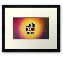 Big bang theory serie Framed Print