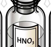 Trio of common acids Sticker