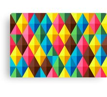 Colorful Diamond Pattern Canvas Print