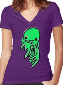 1000 Monsters - #3 - Elvis Women's Fitted V-Neck T-Shirt