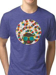 Colorful worm Tri-blend T-Shirt