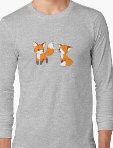 Cute Little Foxes Long Sleeve T-Shirt