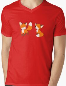 Cute Little Foxes Mens V-Neck T-Shirt
