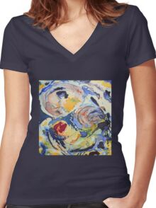 Fusions Women's Fitted V-Neck T-Shirt