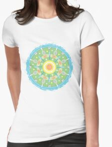play outdoors mandala Womens Fitted T-Shirt