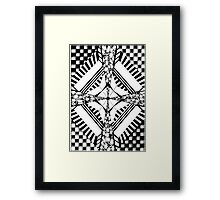 5.B&W-A4.Sectioned Framed Print
