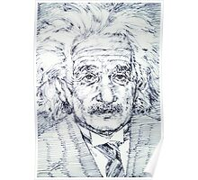 ALBERT EINSTEIN - drawing portrait Poster