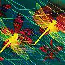 Yellow Dragonflies by Vitta