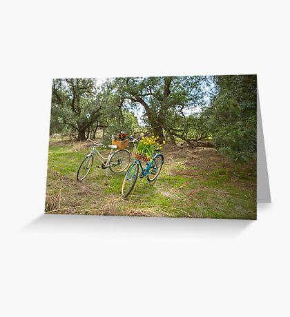 Ladies Vintage Bicycles... Greeting Card