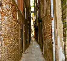 Skinny walk way in Italy by KSKphotography
