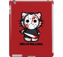 T-shirt parody HELLO kitty KILLING iPad Case/Skin