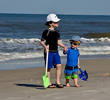 Sam and Max on beach  by KSKphotography