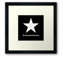 To the end of the line. Captain America Inspired  Framed Print