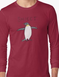 shieet a penguin Long Sleeve T-Shirt