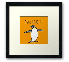 shieet a penguin Framed Print
