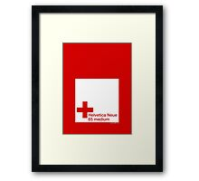 Helvetica 65 medium /// Framed Print