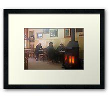 Mist inside the old café - Florina Framed Print