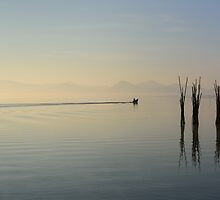 An Early Start, Castiglione del Lago, Lago Trasimeno, Umbria, Italy by Andrew Jones