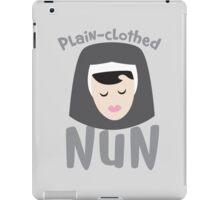 Plain-clothed nun with nuns face iPad Case/Skin
