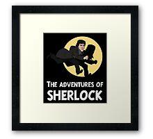 The adventures of Sherlock Framed Print