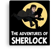 The adventures of Sherlock Canvas Print