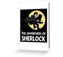 The adventures of Sherlock Greeting Card