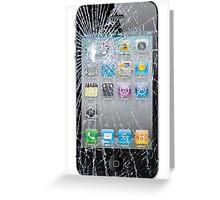 Broken Phone Screen Greeting Card