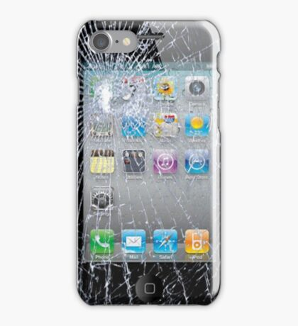 Broken Phone Screen iPhone Case/Skin