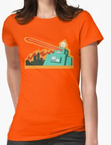 Giant robot... just another monday Womens Fitted T-Shirt