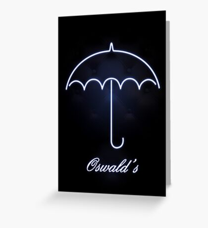 Gotham Oswald's night club Greeting Card