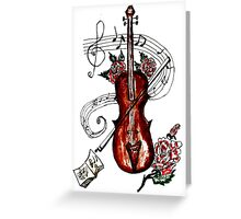 Violin with Notes 2 Greeting Card