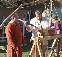 Woodturner at Medieval Fayre by JimmyChi