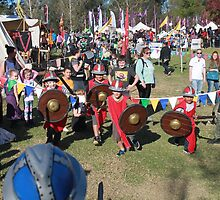 Children Charging into Battle at Medieval Fayre by JimmyChi