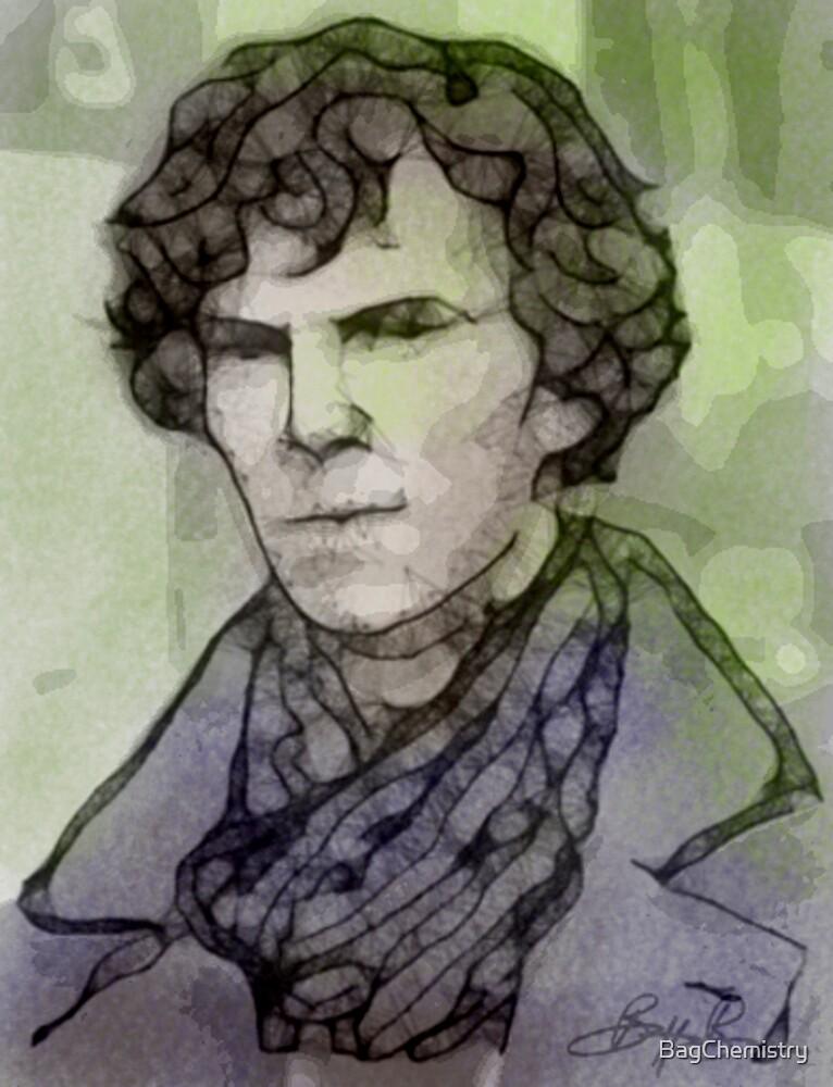 BBC Sherlock - Benedict Cumberbatch Fan Art by BagChemistry