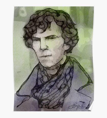 BBC Sherlock - Benedict Cumberbatch Fan Art Poster
