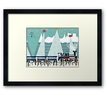 the penguin express Framed Print