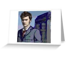 Doctor Who - Tenth Doctor Fan Art Greeting Card