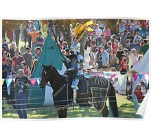 A Knight ready for Jousting Battle at Medieval Fayre Poster
