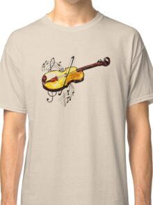 Violin with Notes Classic T-Shirt