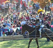A Knight Charges in Jousting Battle at Medieval Fayre by JimmyChi