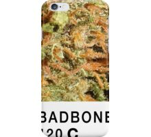Bad Bone (Pantone) Weed 420 iPhone Case/Skin