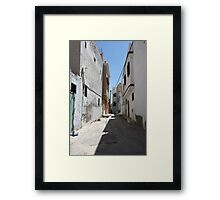 narrow street of the old  Framed Print