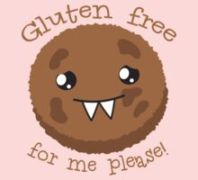 Gluten free for me please with cute kawai cookie monster One Piece - Short Sleeve
