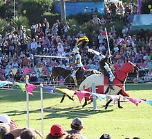 A Knight is wounded in Jousting Battle at Medieval Fayre by JimmyChi